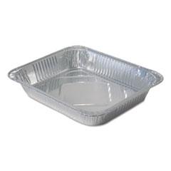 Durable Packaging Aluminum Steam Table Pans, Half Size, Medium, 100/Carton