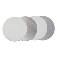 """Flat Board Lids, For 7"""" Round Containers, Silver, 500 /Carton"""