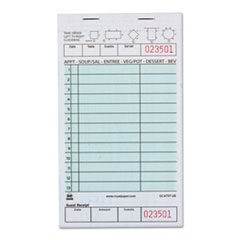 "AmerCareRoyal® Guest Check Book, Two-Part Carbonless, 4 1/5"" x 7 3/4"", 1/Pages, 2000 Forms"