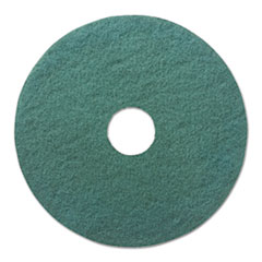 "Boardwalk® Heavy-Duty Scrubbing Floor Pads, 17"" Diameter, Green, 5/Carton"