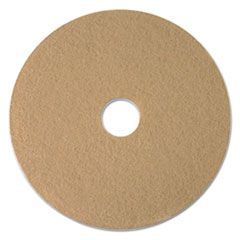 "Boardwalk® Tan Burnishing Floor Pads, 24"" Diameter, 5/Carton"