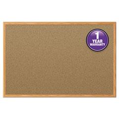 Mead® Economy Cork Board with Oak Frame