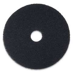 "Boardwalk® Stripping Floor Pads, 17"" Diameter, Black, 5/Carton"