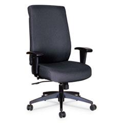 Alera® Alera Wrigley Series High Performance High-Back Synchro-Tilt Task Chair, Up to 275 lbs., Black Seat/Back, Black Base