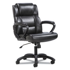 Mid-Back Executive Chair, Supports up to 250 lbs., Black Seat/Black Back, Black Base