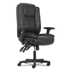 High-Back Executive Chair, Supports up to 225 lbs., Black Seat/Black Back, Black Base