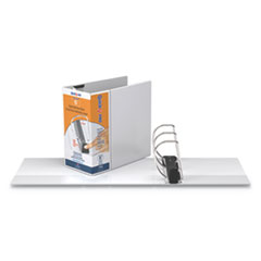 """Stride QuickFit PRO Heavy Duty Storage D-Ring View Binder, 3 Rings, 6"""" Capacity, 11 x 8.5, White"""
