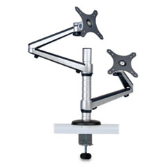 "Dual Full Motion Flex Arm Desk Clamp for 13"" to 27"" Monitors, up to 22 lbs/Arm"