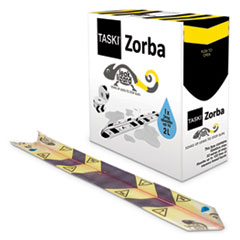 "Diversey™ Zorba Absorbent Control Strips, 0.5 gal Absorbing Volume, 1"" x 100 ft, 50 Strips/Box"