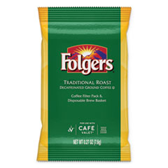 Folgers® Traditional Roast, Decaf, 0.27 oz Packet, 96/Carton