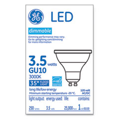 GE LED MR16 GU10 Dimmable Warm White Flood Light, 3000K, 3.7 W
