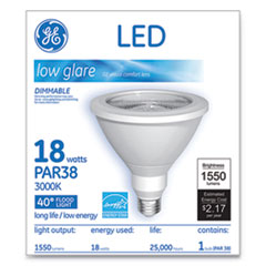 GE LED PAR38 Dimmable 40 Dg Warm White Flood Light Bulb, 18 W