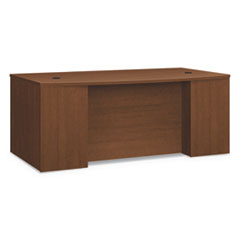 HON® Foundation™ Breakfront Desk Shell Bow Front