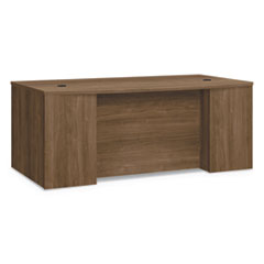 """HON® Foundation Breakfront Desk Shell Bow Front, 72"""" x 42"""" x 29"""", Pinnacle"""