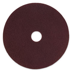"Scotch-Brite™ Surface Preparation Pad Plus, 17"" Diameter, Maroon, 5/Carton"
