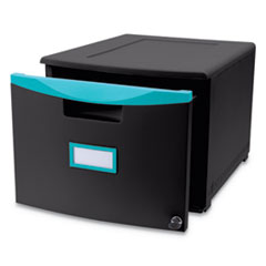 Storex Single-Drawer Mobile Filing Cabinet Thumbnail