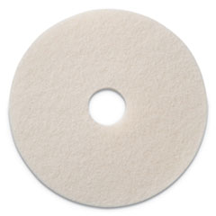 "Americo® Polishing Pads, 19"" Diameter, White, 5/CT"