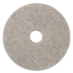 "Americo® Combo Burnishing Pads, 19"" Diameter, Tan, 5/CT"