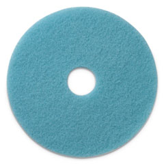 "Americo® Luster Lite Burnishing Pads, 20"" Diameter, Sky Blue, 5/CT"