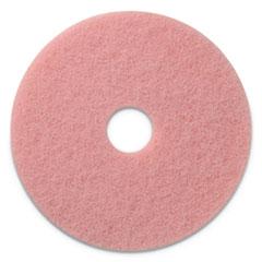 "Americo® Remover Burnishing Pads, 20"" Diameter, Pink, 5/CT"