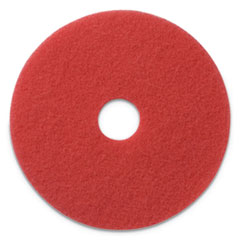 "Americo® Buffing Pads, 19"" Diameter, Red, 5/CT"