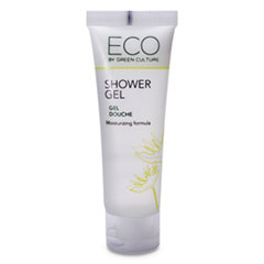 Eco By Green Culture Shower Gel, Clean Scent, 30mL, 288/Carton
