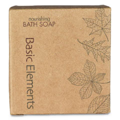 Basic Elements Bath Soap Bar, Clean Scent, 1.41 oz, 200/Carton