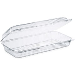 Dart® StayLock Clear Hinged Lid Containers, 50.2 oz, 6.8 x 13.4 x 2.6, 200/Carton
