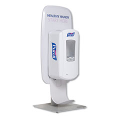 "PURELL® LTX or TFX Table Top Dispenser Stand, 3.79"" x 17.68"" x 9.18"", White"