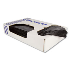 Heritage Linear Low-Density Can Liners, 10 gal, 0.55 mil, 24 x 23, Black, 500/Carton