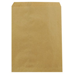 "Duro Bag Kraft Paper Bags, 8.5"" x 11"", Brown, 2,000/Carton"