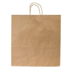 """Duro Bag Handled Paper Bags, 7"""" x 18.25"""", Brown, 200/Carton"""