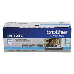 Brother TN223C Toner, 1,300 Page-Yield, Cyan