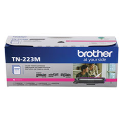Brother TN223M Toner, 1,300 Page-Yield, Magenta