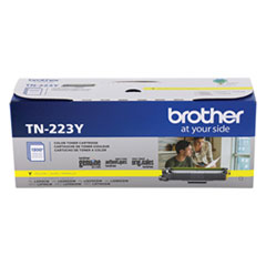 Brother TN223Y Toner, 1,300 Page-Yield, Yellow
