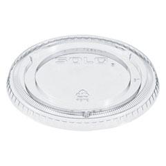 Dart® PETE Plastic Flat Straw-Slot Cold Cup Lids