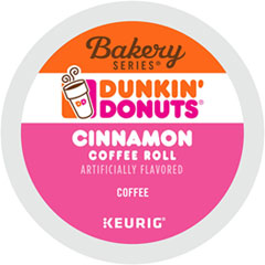 Dunkin Donuts® K-Cup Pods, Cinnamon, K-Cup, 24/BX