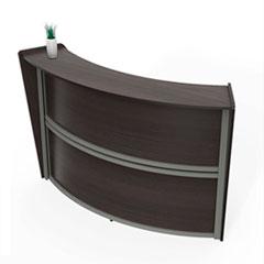 "Linea Italia® Reception Desk, 72"" x 32"" x 46"", Mocha"