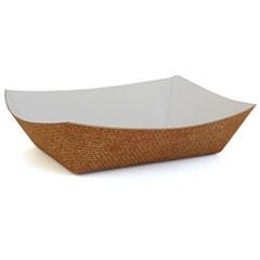SCT® Hearthstone Food Trays, 5 lb Capacity, 8.48 x 5.85 x 2.32, Brown, 500/Carton