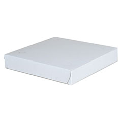 SCT® Clay-Coated Paperboard Pizza Boxes, 9w x 9d x 1 1/2h, White, 100/Carton