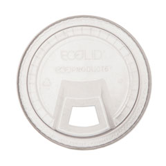 Eco-Products® GreenStripe Cold Cup Sip Lid, Fits 9-24 oz. Cups, Clear, 1000/Carton