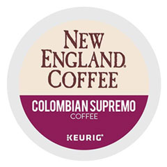 New England® Coffee Colombian Supremo K-Cup Pods, 24/Box