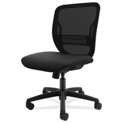 HON® Gateway Mid-Back Task Chair, Supports Up to 250 lbs, Black Seat, Black Back, Black Base