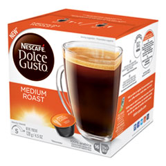 Dolce Gusto Coffee Capsules, Medium Roast, 12 oz, Capsule, 3/Carton