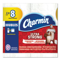 Charmin® Ultra Strong Bathroom Tissue, Septic Safe, 2-Ply, White, 143 Sheet/Roll, 12/Carton
