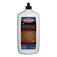 WEIMAN® High Traffic Hardwood Polish and Restorer, 32 oz Squeeze Bottle, 6/Carton