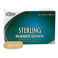 "Sterling Rubber Bands, Size 19, 0.03"" Gauge, Crepe, 1 lb Box, 1,700/Box"
