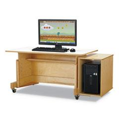 "Computer Table, 42"" x 24"", Birch/White"