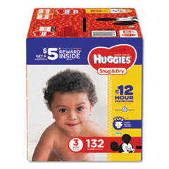 Huggies® Snug and Dry Diapers, Size 3, 16 lbs to 28 lbs, 132/Pack