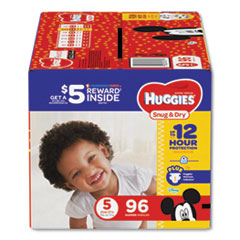 Snug and Dry Diapers, Size 5, 27 lbs to 35 lbs, 96/Pack